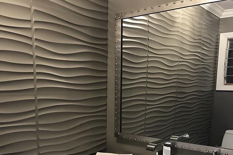 Panel 3D ondas, pared 3d Barranquilla, bogota, dco panel