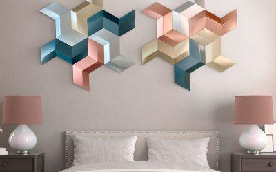 Paneles 3D diseño Geométricos, arte en la decoración de paredes y espacios.